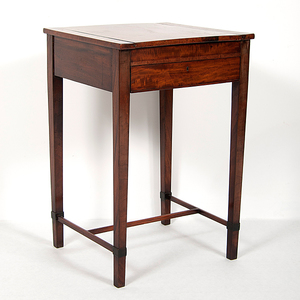 English Figured Games Table in Mahogany