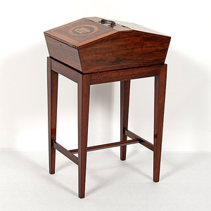 English Inlaid Sewing Box in Mahogany