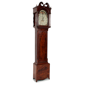 Hepplewhite Tall Case Clock in Mahogany