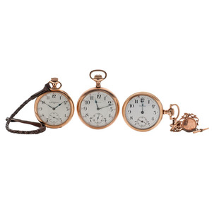 Elgin and Waltham Open Face Pocket Watches