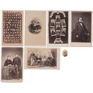Civil War-Period CDVs, Including Lincoln, Stephen A. Douglas, Union Generals, and More