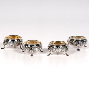 George II Sterling Salt Cellars