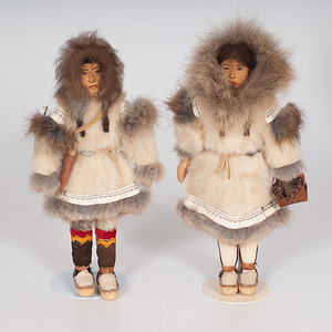 Inuit Carved Dolls