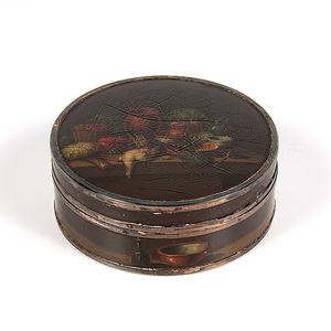 Painted Tortoiseshell Snuff Box