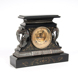 Ansonia Clock Co. Rosalind Figural Mantel Clock