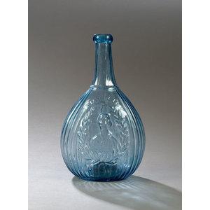 Medium Blue Jenny Lind Flask,