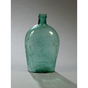 Green Union & Eagle Flask,