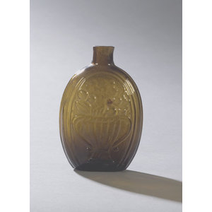 Dark Olive Basket & Cornucopia of Fruit Flask,