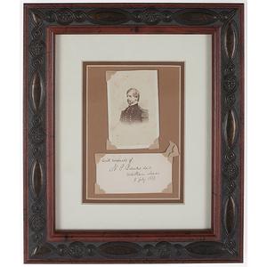 Union General Nathaniel Banks CDV Plus Signed Card