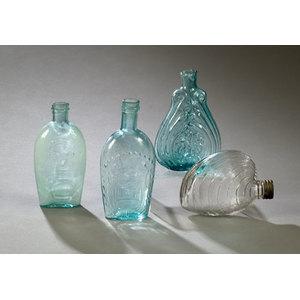Four Aqua & Clear Flasks,