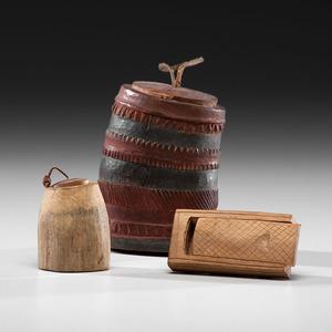 Eskimo Wood Snuff Boxes