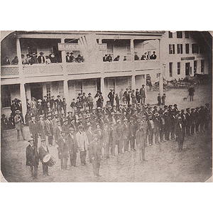 Late 19th Century Carbon Print of Co. A, 3rd Vermont Regiment, Originally Taken in Springfield, 1861