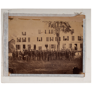 Civil War Photograph of Officers From the Parker Guards, Some Identified