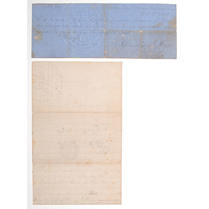 Libby Prison, Camp Sumter, and Florence Stockade POW Sgt. Dennis M. Hagan ALS to His Father from Libby and POW Civil War Pledge From Florence