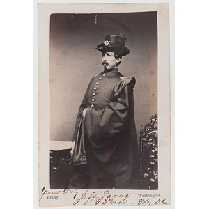 Second Lieutenant Jefferson Savage, 3rd Maine Infantry, Signed Civil War CDV