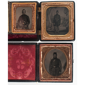 Three Tintypes of Armed Union Soldiers