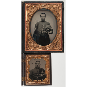 Quarter Plate Ambrotype and Ninth Plate Tintype of New Hampshire Union Volunteers