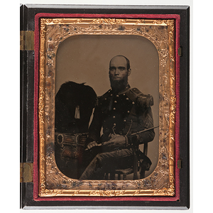 Quarter Plate Ambrotype of an Officer