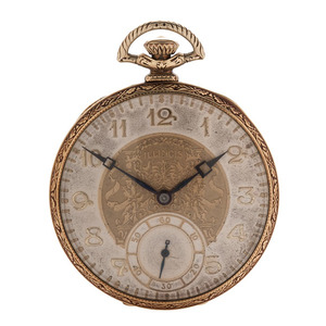 Illinois Open Face Pocket Watch Ca 1923
