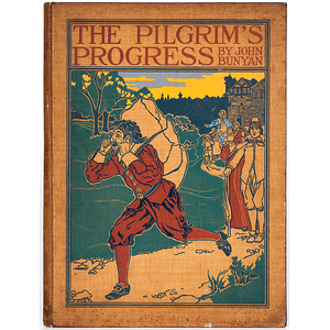 John Bunyan, Pilgrim's Progress, 19th Century Printing, Previously Owned and Signed by James Fenimore Cooper, Jr.