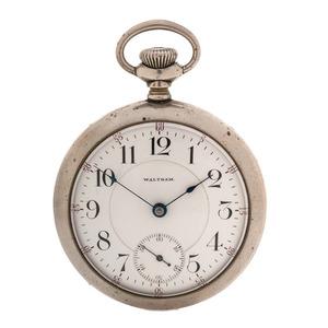 Waltham Open Face Pocket Watch Ca 1906