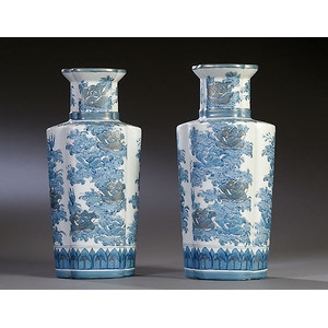 Pair of Ching Dynasty Urns,
