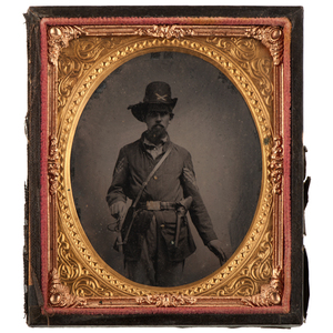 Civil War Sixth Plate Tintype of Capt. William C. Myers, 14th Ohio Light Artillery, Taken in Jackson, TN, 1862