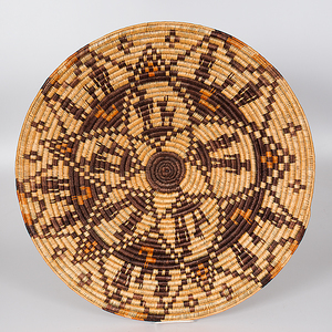 Navajo Oversized Basket with Couples and Dogs