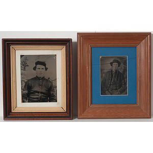 Civil War Tintype Enlargements of Union Soldiers