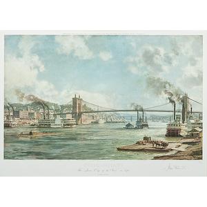 Cincinnati, The Queen City of the West in 1876 by John Stobart