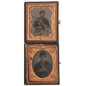 Civil War Ninth Plate Tintypes of Armed Union Soldiers