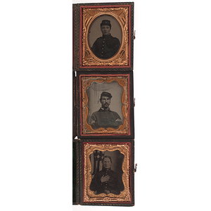 Three Civil War Ninth Plate Ambrotypes of Soldiers