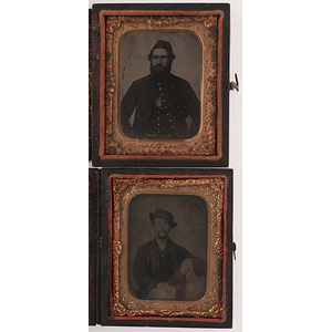 Civil War Ninth Plate Cased Images of Identified Soldiers of the 20th OVI and 202nd Penn.