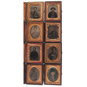 Group of Civil War Ninth Plate Tintypes and Ambrotypes