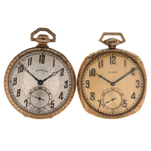 Elgin and Illinois Pocket Watches, Ca 1922