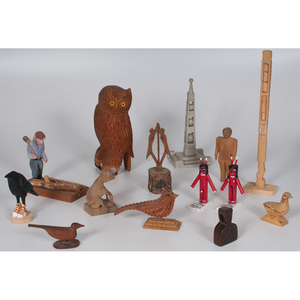Contemporary Folk Art Figural Carvings