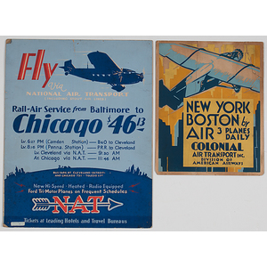 National Air Transport and Colonial Air Transport Inc. Counter Displays