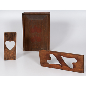 Slide Lid Candle Box and Wooden Molds with Heart Motifs