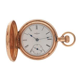 Elgin Hunter Case Pocket Watch in 14 Karat Gold