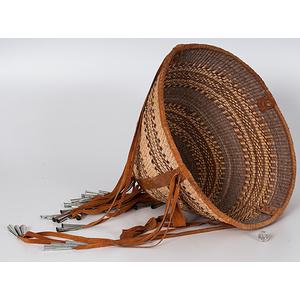 Viola Taylor (San Carlos Apache, 20th century) Burden Basket with Ribbon
