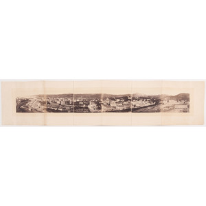 Visconti Six-Plate Panorama of Nice, Albumen Photographs, Ca 1870