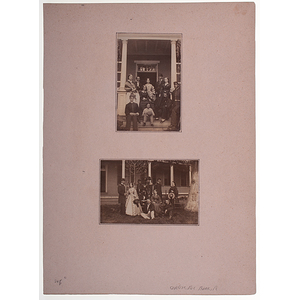Carlisle Barracks, Ca 1864, Two Albumen Photographs of Officers with their Families