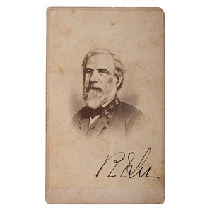 CSA General Robert E. Lee Signed CDV