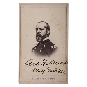 General George G. Meade Signed CDV