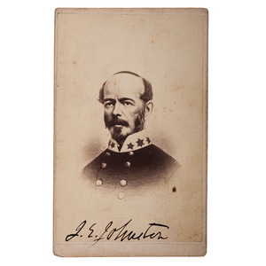 CSA General Joseph E. Johnston Signed CDV
