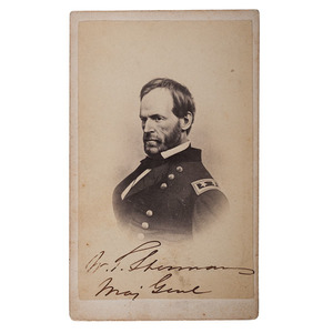 General William T. Sherman Signed CDV