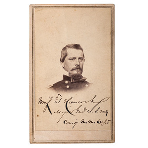 General Winfield Scott Hancock Signed CDV
