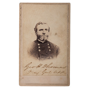 General George H. Thomas Signed CDV