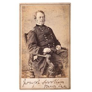 General Joseph Hooker Signed CDV