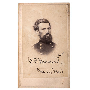 General O.O. Howard Signed CDV